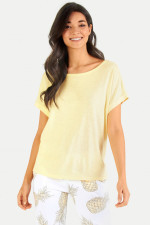 Boxy Fit T-Shirt in Pastellgelb