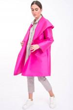 Taft-Mantel in Pink
