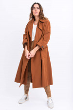 Langer Trenchcoat in Rost