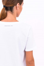 Baumwoll-Shirt DRESDA in Weiß