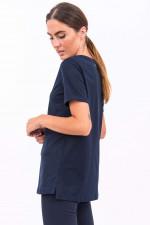 Baumwoll-Shirt DRESDA in Navy