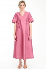 Maxi-Kleid BALIA aus Leinen-Seiden-Mix in Rosa