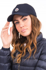 Basecap mit Logo-Patch in Navy
