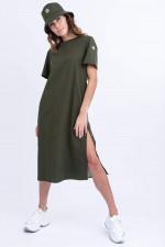 Modernes T-Shirt Kleid in Oliv
