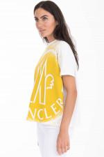 T-Shirt mit Color-Splash-Print in Weiß/Gelb
