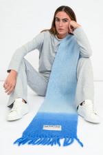 Wollmix Schal mit Farbverlauf in Blau