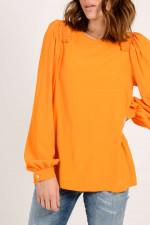 Bluse mit Rüschen in Orange