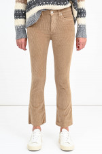 Feincord-Hose ENDLESS mit Kick in Camel