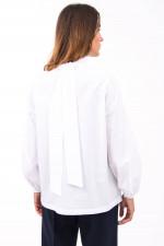 Bluse mit Rüschen-Details in Weiß