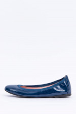 Hochglanz Ballerinas in Navy