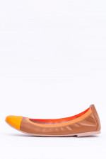 Moderne Ballerinas in Camel/Orange