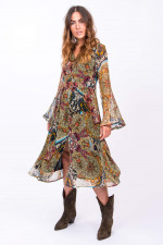 Kleid aus Viskose im Paisley-Design