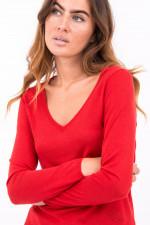 Pullover mit V-Ausschnitt in Rot