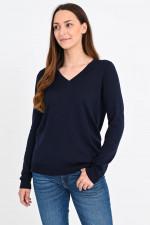 Pullover aus Seiden-Baumwoll-Mix in Midnight