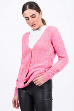 Strickweste in Pink/Koral