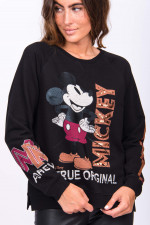 MICKEY MOUSE Sweater in Schwarz