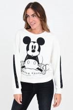 Mickey Mouse Sweater in Weiß/Schwarz