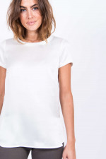 Seidenshirt in Weiß