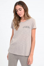 T-Shirt CLASSY & FABULOUS in Taupe
