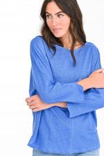 Leinenshirt in Blau