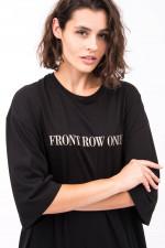 T-Shirt Kleid FRONT ROW ONLY in Schwarz