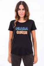 T-Shirt DRAMA QUEEN in Schwarz