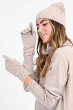 Kaschmir Strick-Handschuhe in Puder-Rosa
