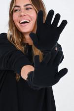 Kaschmir Strick-Handschuhe in Schwarz
