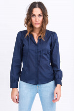 Schluppenbluse in Navy