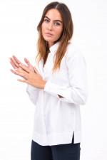 Bluse mit Seitenschlitze in Weiß