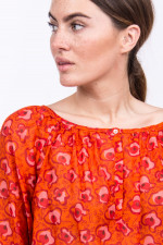 Blusenshirt im floralen Design in Orange