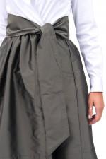 Blusenkleid ELENAT in Weiß/Oliv