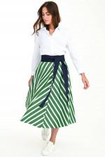 Blusenkleid MARNA in Weiß/Grün
