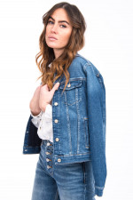 Jeansjacke in Denimblau