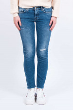 Jeans PYPER CROP distressed in Mittelblau