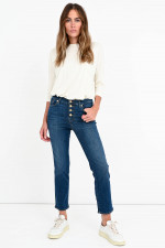 Jeans THE STRAIGHT CROP in Dunkelblau