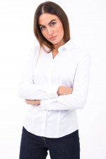 Schlichte Bluse in weiß