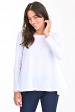 Oversized Shirt mit Raglanarm in Weiß