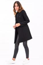 Mantel im Blazer-Design in Schwarz