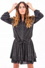 Kleid mit Metallic Optik in Schwarz
