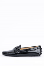 Loafer mit Lack-Optik in Schwarz