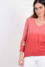 Pullover in Himbeere