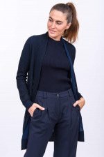 Rippstrick-Cardigan CAMPOLONGO in Navy
