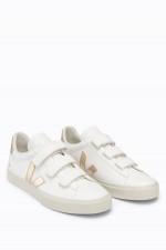 Leder-Sneaker RECIFE in Weiß/Gold