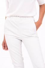 Glattleder-Hose in Weiß