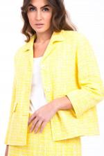 Tweed-Kostüm in Gelb