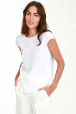 Crepe Blusenshirt in Weiß