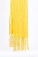 Schal aus Schurwolle in Gelb