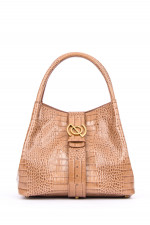 Schultertasche ZOE MEDIUM in Camel