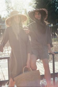 Shorts mit elastischem Bund in Khaki